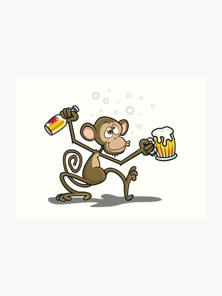 Monkey Drunk Cartoon Theme.