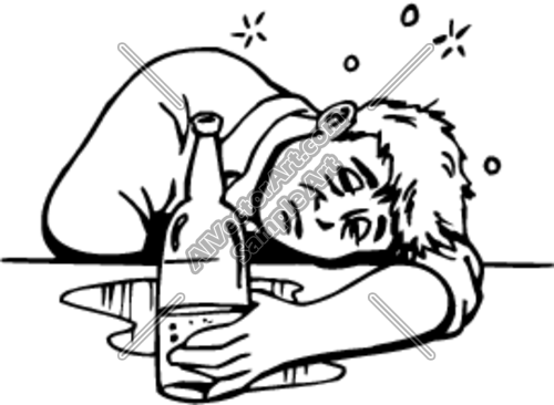 Drunk People Clipart.