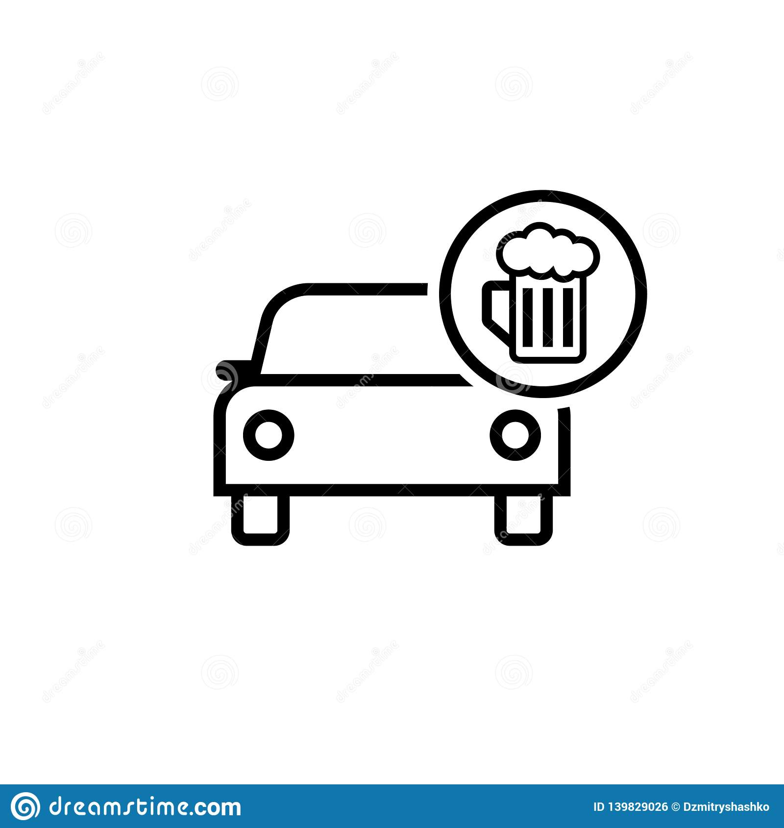 Drunk driving icon stock vector. Illustration of drink.