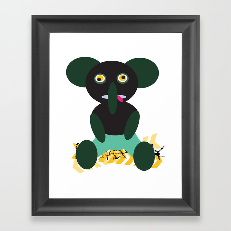 Drunk Elephant Framed Art Print.