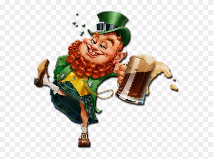 St Patrick Leprechaun Drunk , Png Download.