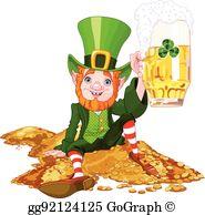 Drunk Leprechaun Clip Art.