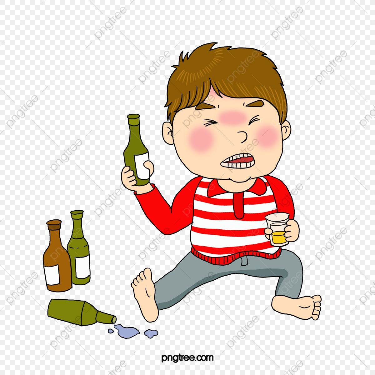 A Drunk Man, Man Clipart, Cartoon, Jane Pen PNG Transparent Clipart.