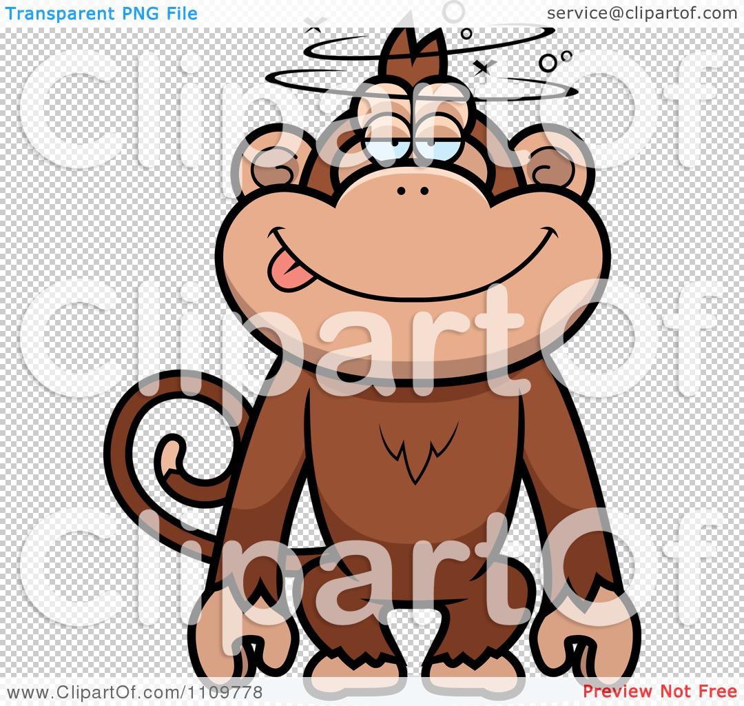 Clipart Drunk Or Dumb Monkey.
