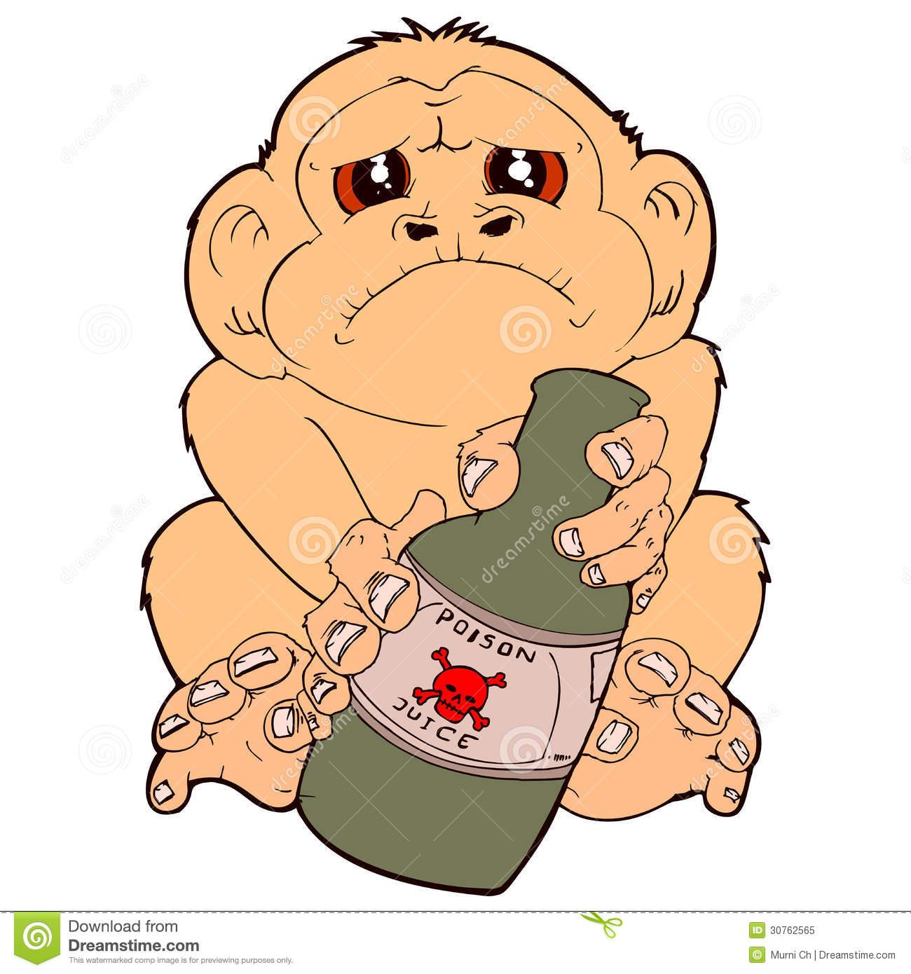 Drunk Monkey Stock Illustrations.