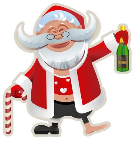 325 Drunk Santa Cliparts, Stock Vector And Royalty Free Drunk Santa.