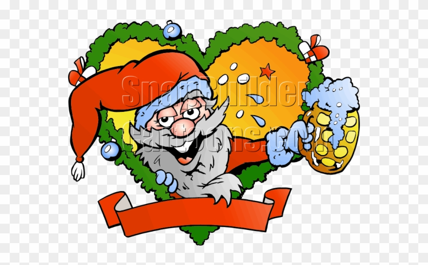 Drunk Santa Cartoon Clipart (#1856662).