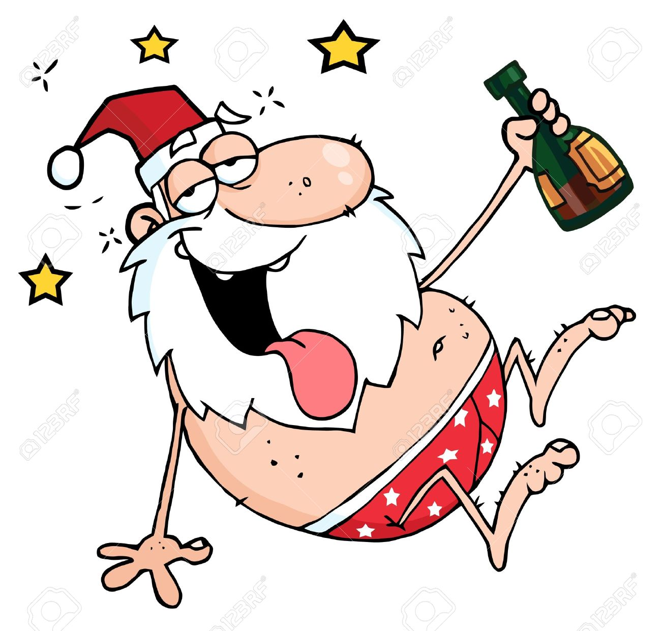 Christmas drunk clipart.
