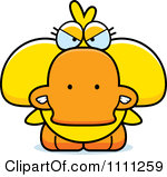 Clipart Cute Drunk Duck.