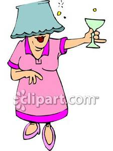 Drunk Woman Clipart.