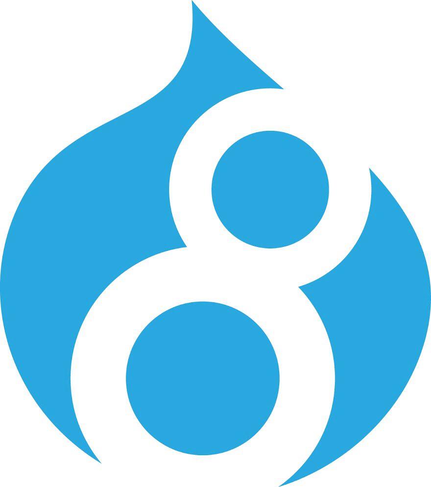 New Drupal 8 logo.