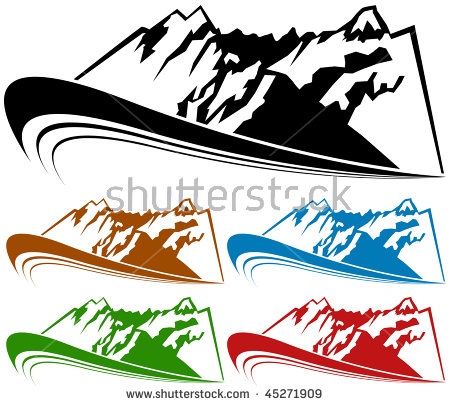 Mountain Range Of Red Stock Photos, Royalty.