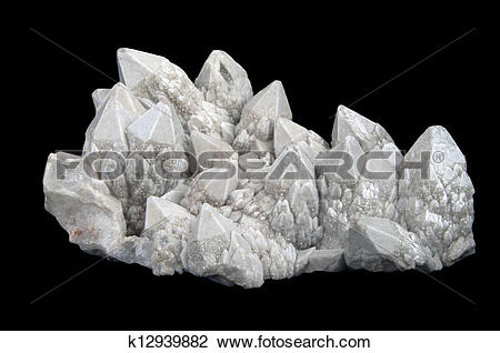 Stock Photo of Druze of quartz crystals k12939882.