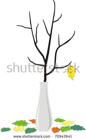 Dry Branch Tree Flowers Elegant White Stock Illustration 68215705.