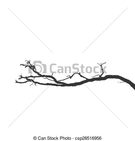 Clipart Vector of Dead branches. Vector Silhouette dry branch.