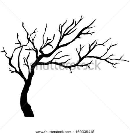 Simple Black And White Tree Branches.
