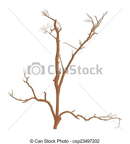 Vector Clipart of Dry Dead Tree Branches Vector.