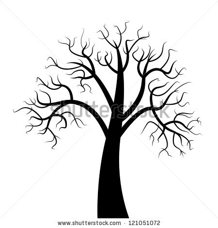 Dead Trees Have Branches On White Stock Vector 121051072.