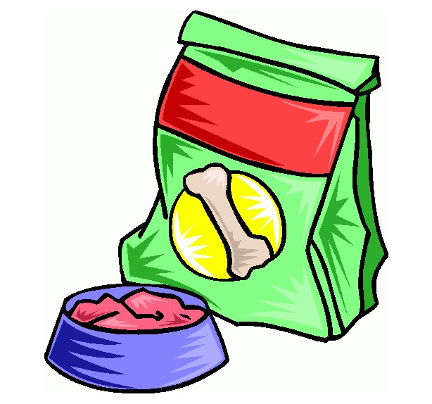 Dry Dog Food Bag Clipart.