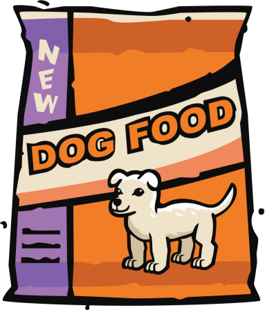 Dog With Food Clipart.
