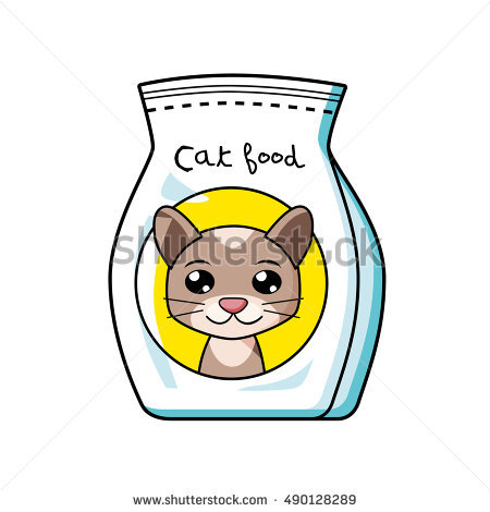 dry cat food bag clipart - Clipground
