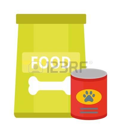 Dry Cat Food Bag Clipart.
