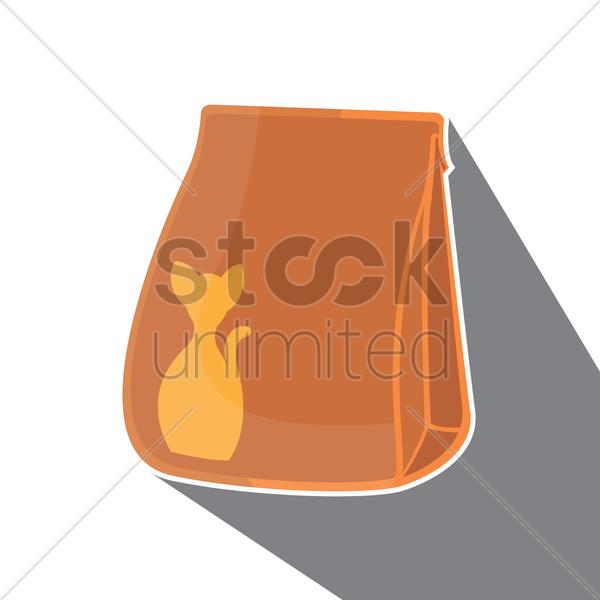 Cat Food Bags Clipart.