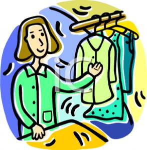 A Clerk Working At a Dry Cleaners.