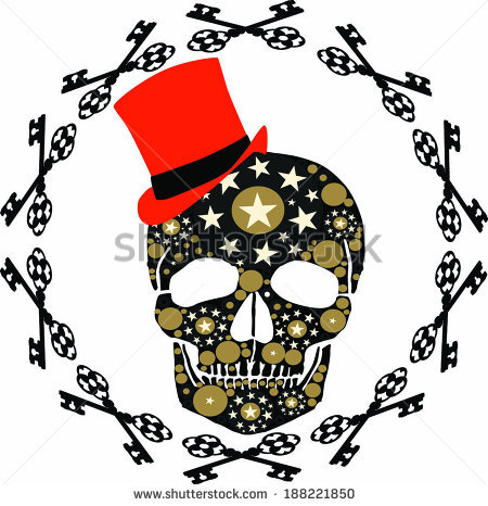 Black Red Skull Star Stock Photos, Royalty.
