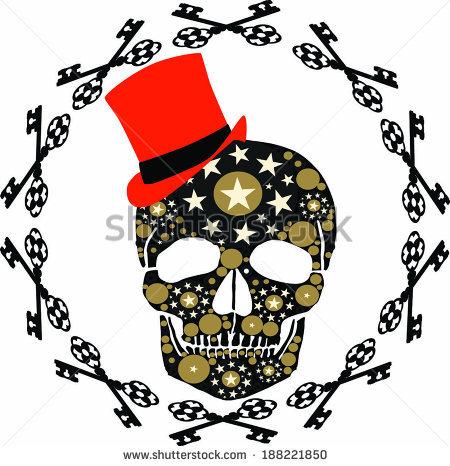 Black Red Skull Star Stock Photos, Royalty.