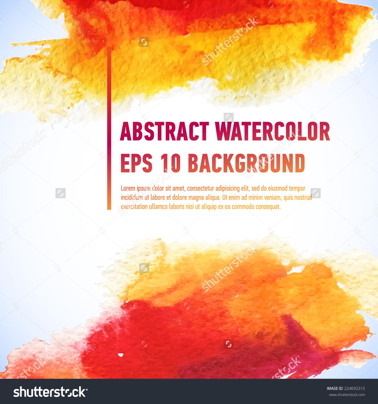 Vector Watercolor Ink Spot Wet Brush Stock Vector 224692315.