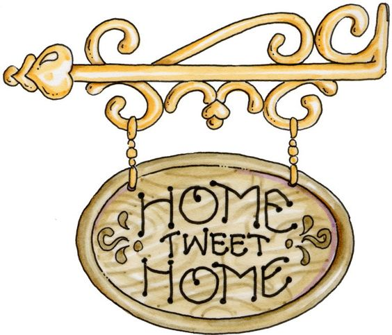 COUNTRY, HOME SWEET HOME CLIP ART.