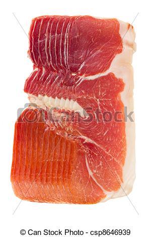 Stock Photographs of jamon serrano.