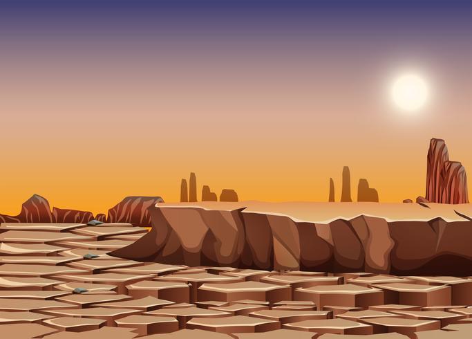 Dry desert landscape scene.
