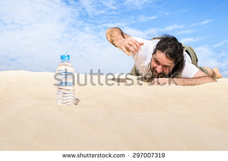 Thirsty Man Stock Images, Royalty.