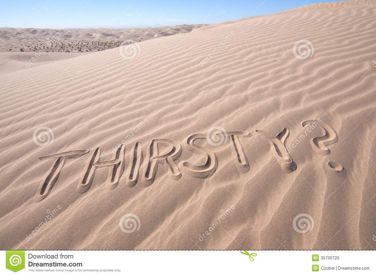 Thirst In Desert Stock Photo.