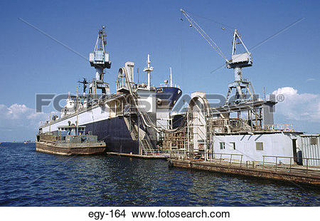 Stock Photo of Ship under Repairs in Dry Dock Port Said Egypt egy.