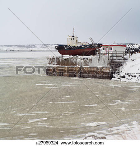 Stock Photo of Churchill Northern Manitoba Ship on Dry Dock.