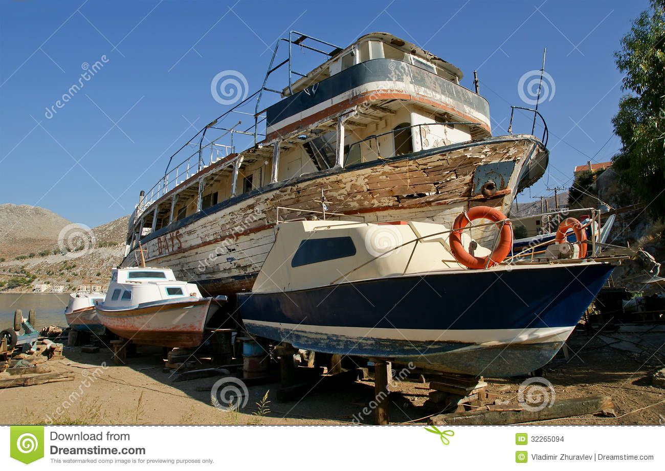 A Wooden Ship At Dock Clipart.