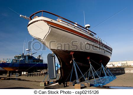 Stock Image of Fishing Boat, Dry Dock 2.