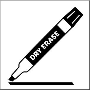 Clip Art: Dry Erase Marker Black I abcteach.com.