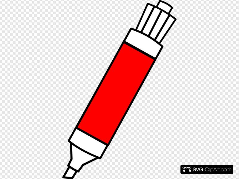Red Dry Erase Marker Clip art, Icon and SVG.