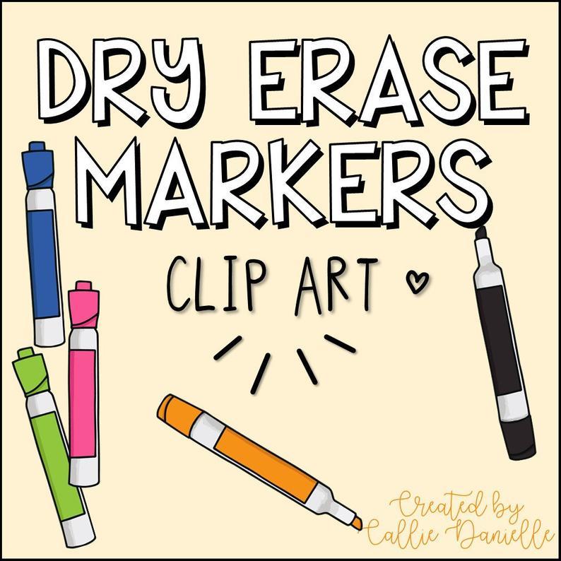 Dry Erase Markers Clip Art / Digital Graphics.