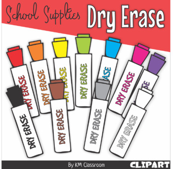 Dry Erase Marker in Rainbow Colors.
