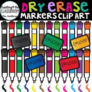 Dry Erase Markers Clip Art {School Clip Art}.