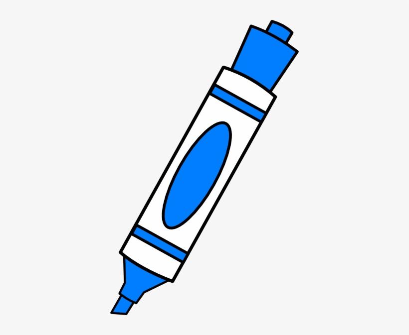 Blue Color Marker Clip Art.