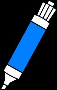 Blue Dry Erase Marker PNG, SVG Clip art for Web.