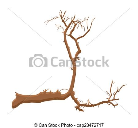Vector Clip Art of Dead Tree Shape Design.