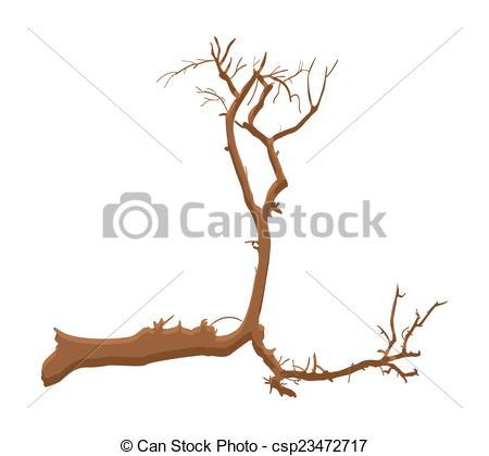 Vector Clip Art of Dead Tree Shape Design.