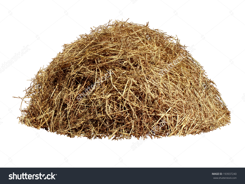 Hay Pile Isolated On White Background Stock Photo 193937240.